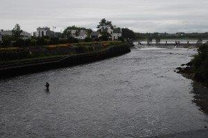 Fisherman in the Corrib River, six kilometres long and the fastest flowing river in Europe.